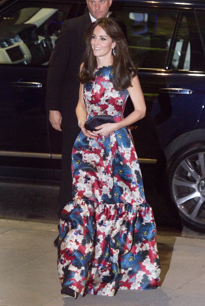The Duchess of Cambridge arrives at The Victoria and Albert Museum in London, to attend 100 women in Hedge Funds gala dinner in aid of The Art Room. Picture by Ben Stevens / i-Images