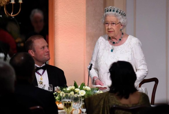 When she is not entertaining, The Queen prefers to eat a carb-free meal alone