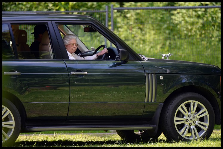 The Queen doesn't legally need a driving license. Andrew Parsons / i-Images