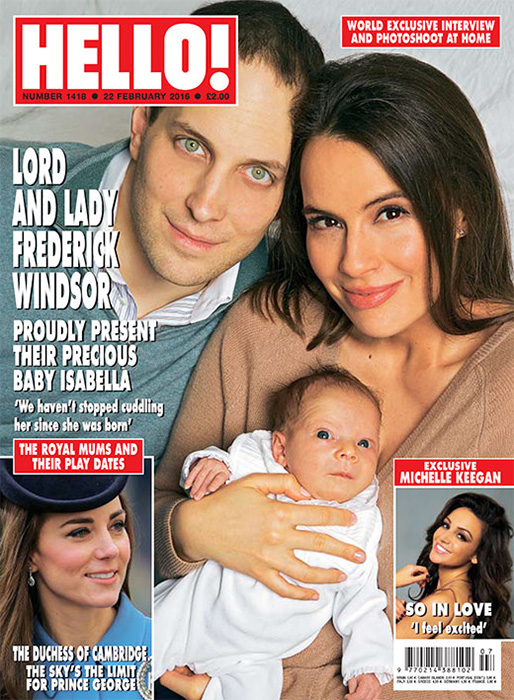 Freddie and Sophie Windsor gave an exclusive interview to Hello! with their newborn, Isabella. (Hello!)