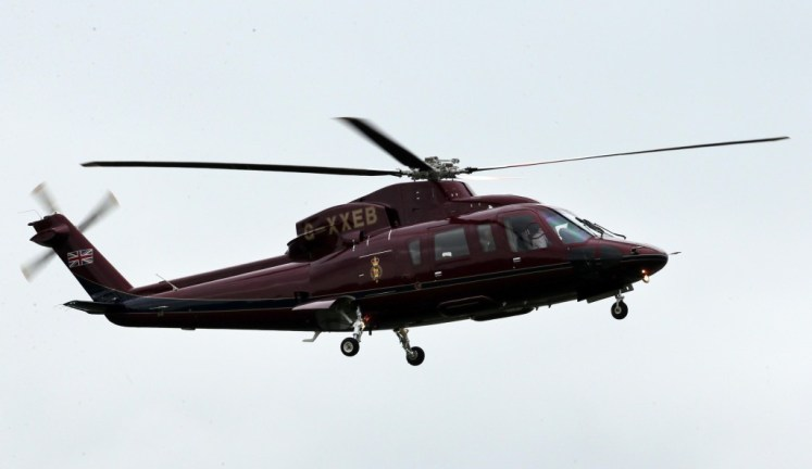 Teh Royal Helicopter is funded via the Sovereign Support Grant. Picture by Stephen Lock / i-Images
