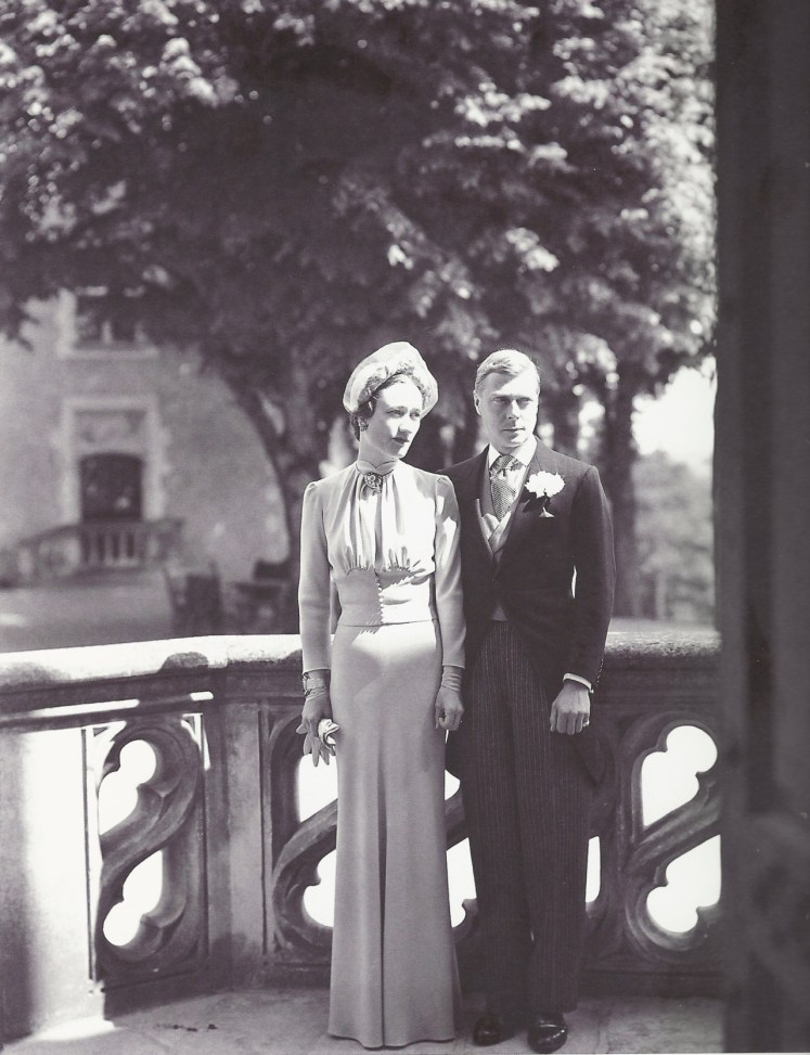 The Duke of Windsor married Wallis Warfield (Simpson) in a private ceremony near Paris. No Royals attended. (Lost Gallery)