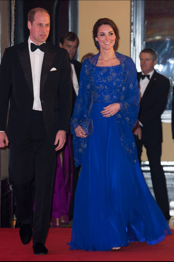 The Duke and Duchess of Cambridge arriving at a Bollywood charity gala at the Taj Palace hotel in Mumbai on the first night of their tour of India. Picture by Stephen Lock / i-Images