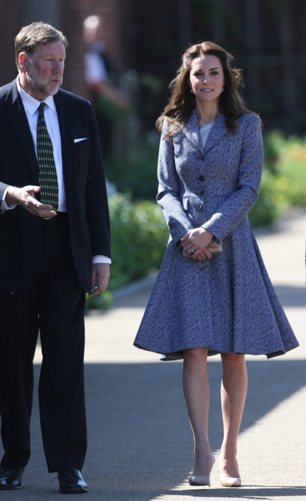 The Duchess of Cambridge arriving to  open the Magic Garden at Hampton Court Palace. Picture by Stephen Lock / i-Images