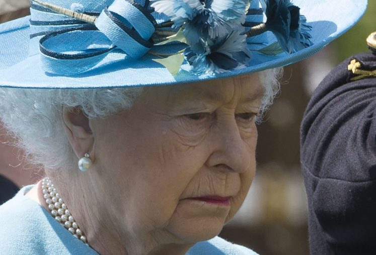The Queen with a tear at the dedication of the new Duke of Lancaster's Regimental Memorial at the National Memorial Arboretum. Picture by Stephen Lock / i-Images