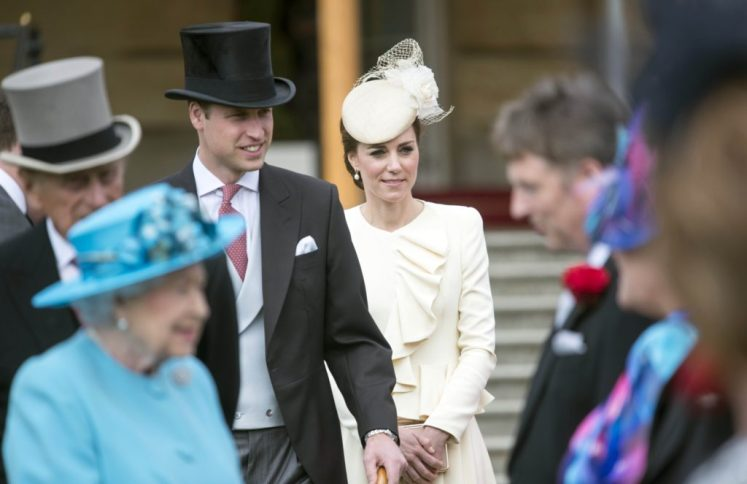 William and Kate join The Queen and Prince Philip. Picture by i-Images