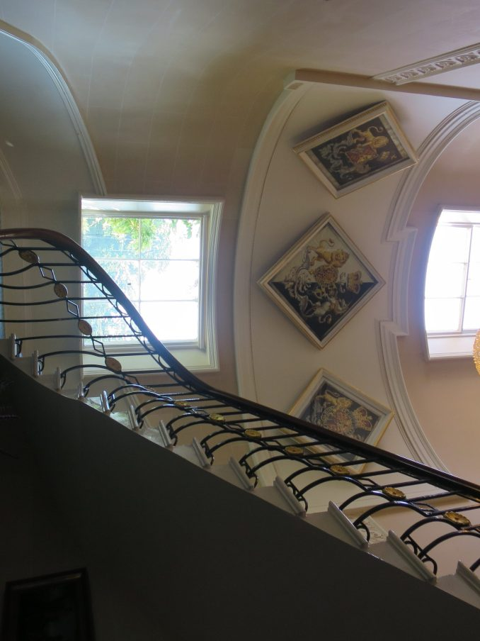 The private staircase leads to the Royal apartments (© Victoria Howard)