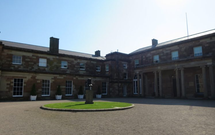 The front of Hillsborough Castle, near Belfast. Victoria Howard