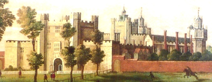 The northern facade of Nonsuch was less detailed and more traditional in style (wikimedia commons)