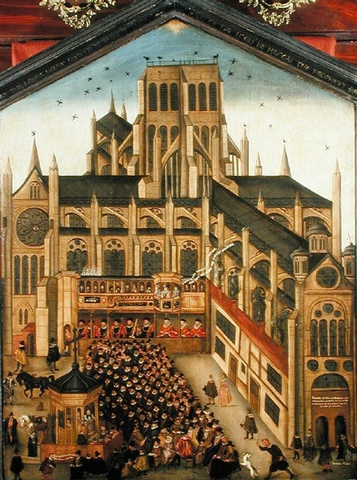St Paul's Cathedral in the late 16th century (Wikimedia Commons)