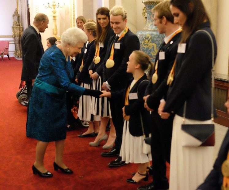 The Queen welcomed Team GB and British paralympians to Buckingham Palace after their successful Rio games (@RoyalFamily)