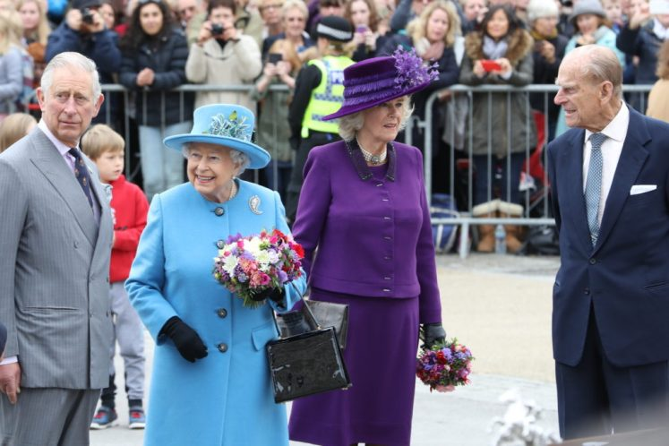 The Queen, Duke of Edinburgh , Prince of Wales and Duchess of Cornwall visit Poundbury to official open Queen Mother Square. Picture by Stephen Lock / i-Images