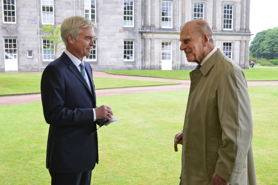 Prince Philip agreed to be part of an ITV documentary about the Duke of Edinburgh's Award with Phillip Schofield (ITV)