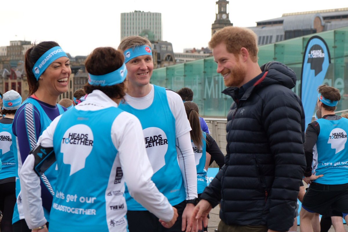 Prince Harry visits Newcastle with Heads Together