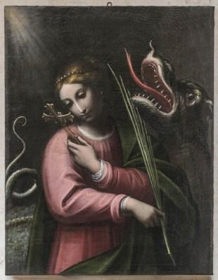 Orsola Maddalena Caccia Santa Margherita di Antiochia, metà XVII secolo Olio su tela, 95x73 cm Santuario della Beata Vergine Maria delle Grazie - Curtatone (MN)