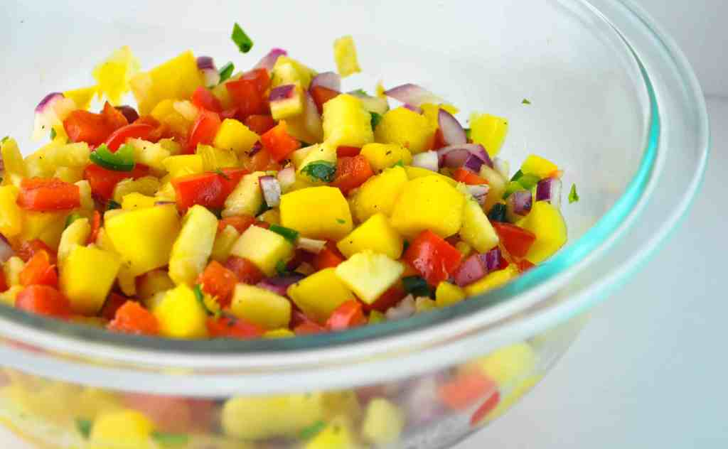 Pineapple Mango Salsa - The Culinary Compass