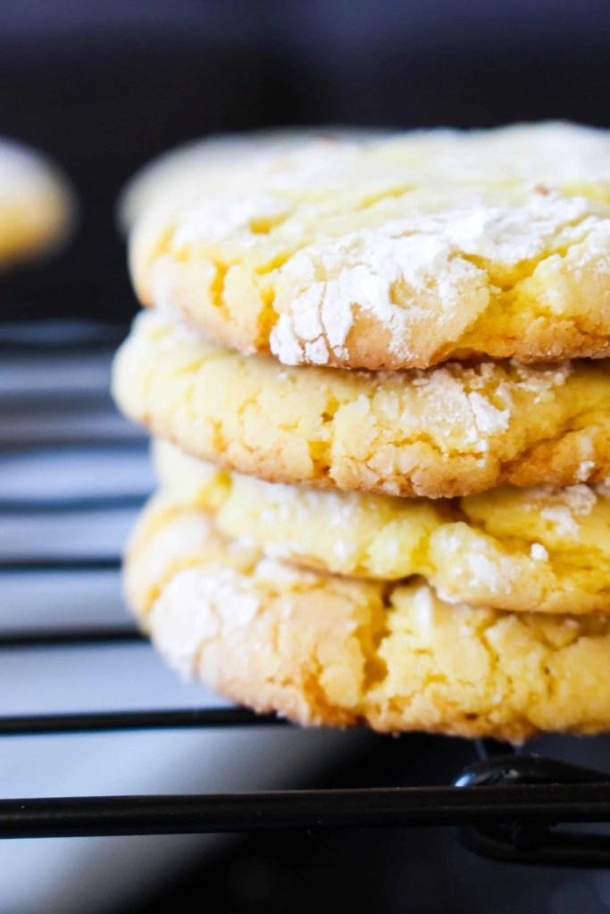 Lemon Crinkle Cookies - The Culinary Compass