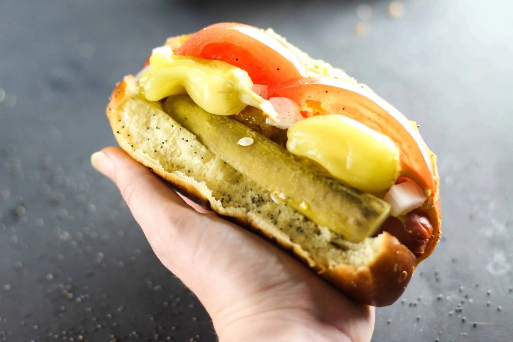 Get transported to the Windy City with this Chicago Style Hot Dog!