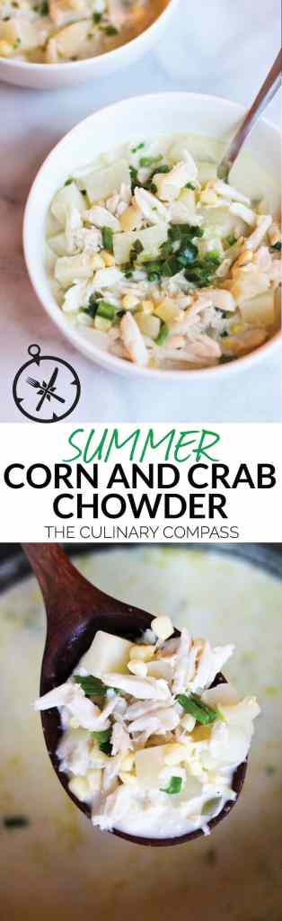 This Summer Corn and Crab Chowder is an easy and light dish that's full of flavor!