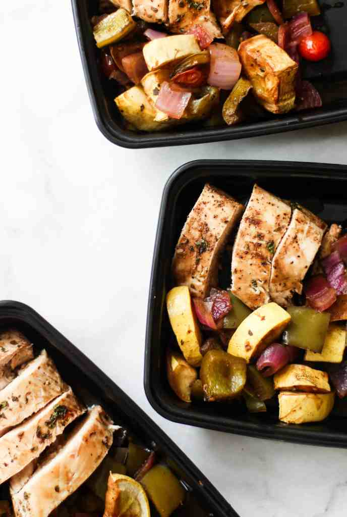 These Veggie Chicken Meal Prep Bowls are easy to make and perfect for both the first-time and veteran meal preppers!
