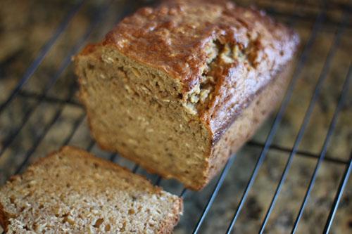 pumpkin banana oat bread