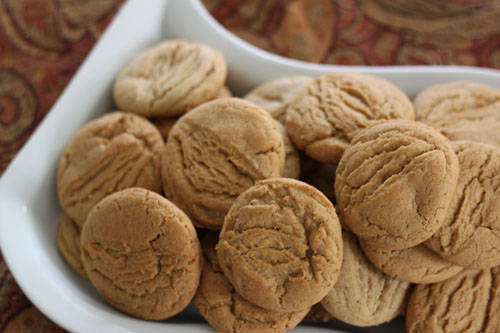 browned butter bourbon spice cookies