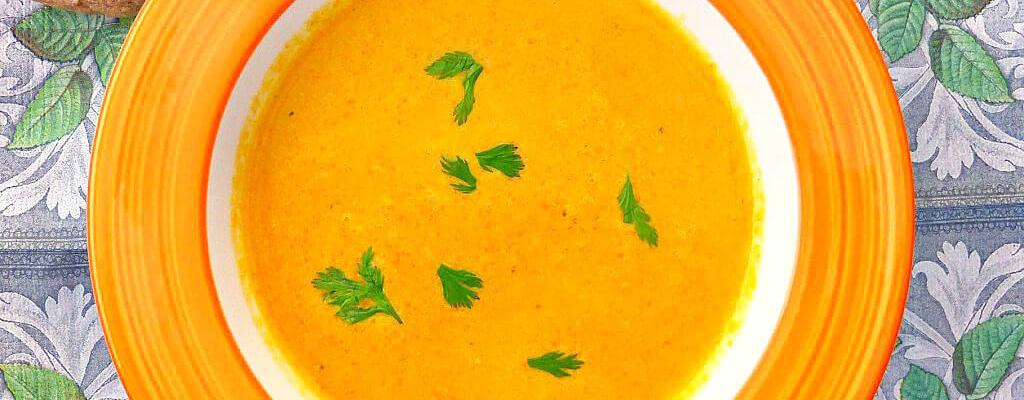 Spicy Homemade Carrot, Turmeric and Coriander Soup