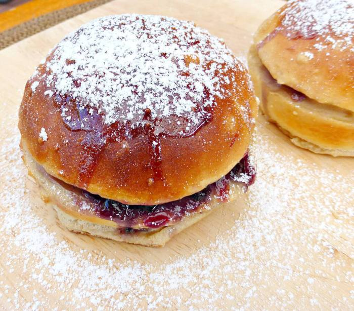 Baked French Toast Buns made with Sweet Coconut Bread