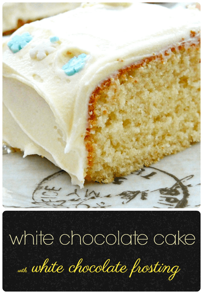 White Chocolate Spelt Cake with White Chocolate Frosting