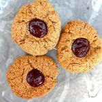 Almond Oat Chocolate Thumbprint Cookies (Gluten Free)