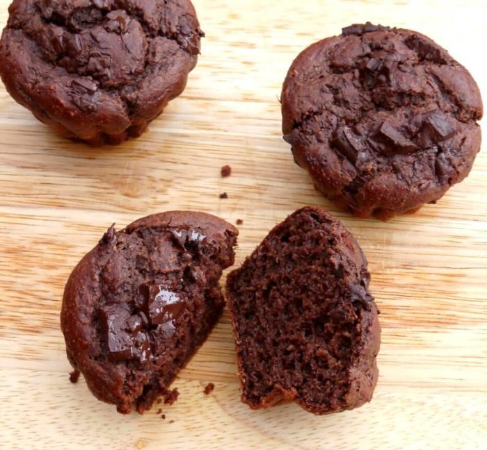 Fudgy Gluten Free Chocolate Muffins