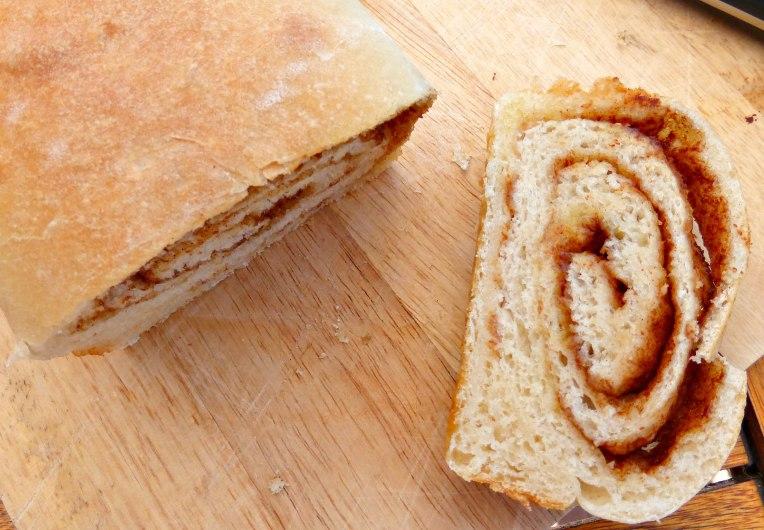 Overnight Cinnamon Swirl Bread with Vanilla Cream Cheese Frosting