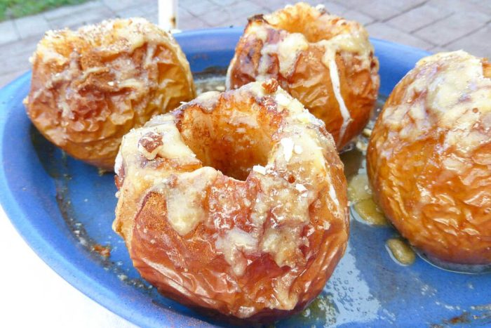 Lighter Baked Apples with Easy Homemade Caramel Sauce