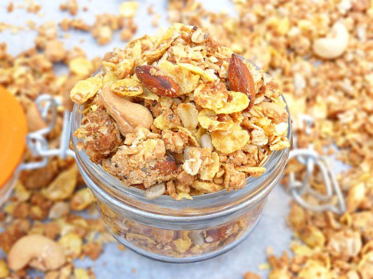 Peanut Butter, Oat and Cornflake Granola (Gluten Free)