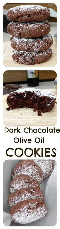 Dark Chocolate Olive Oil Cookies