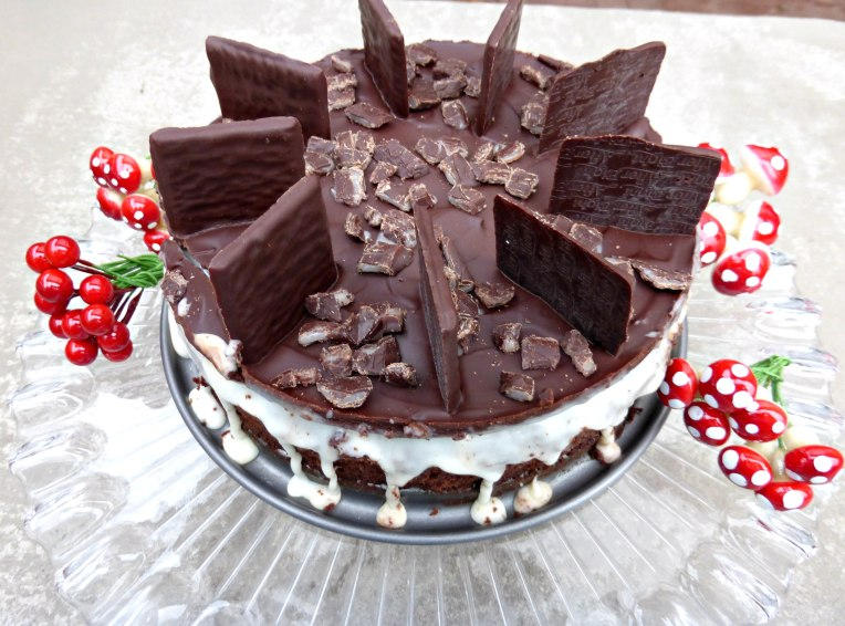 After Eight Mint Fondant Chocolate Brownie Cake