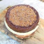 Brownie Crust Mascarpone Chocolate Cheesecake with Daim (Gluten Free)