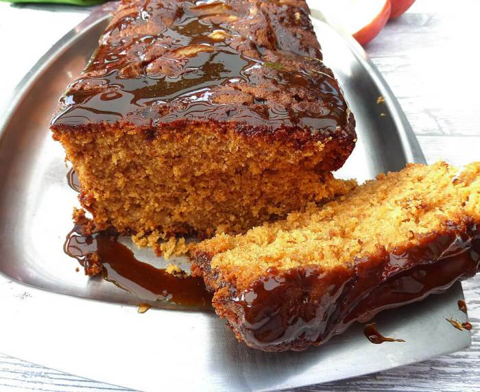 Coconut Sugar Caramel Apple Gingerbread Loaf