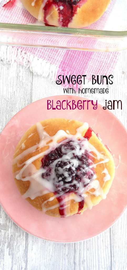 Sweet Vanilla Buns filled with Homemade Blackberry Sauce