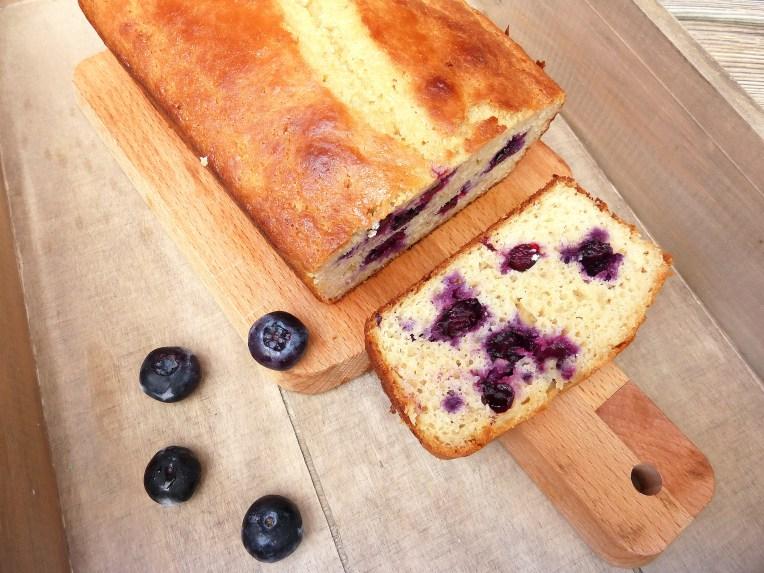 Lemon & Blueberry Cake (GF, low fat, reduced sugar)