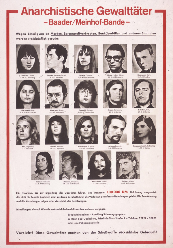 German Terrorists Wanted