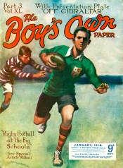 SPRY1003H, Boys Own Rugby, 1918