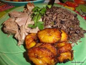 Cha Cha Cha Fried Plantains and Pork
