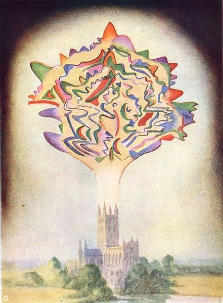 Painting by Annie Besant of an attempt to visualise the music of Gounod