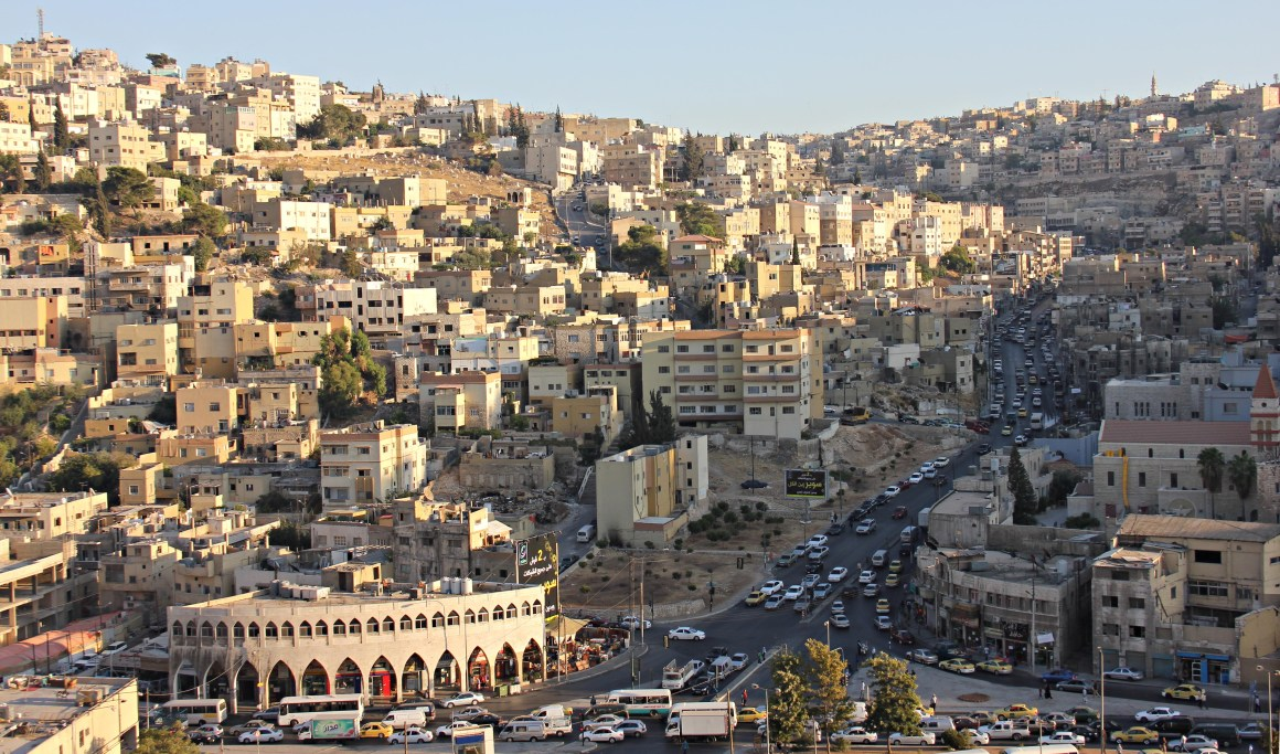 Panoramic view of Amman