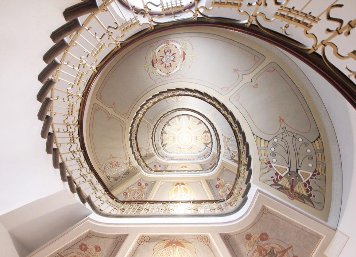 Inside the Art Nouveau Museum in Riga