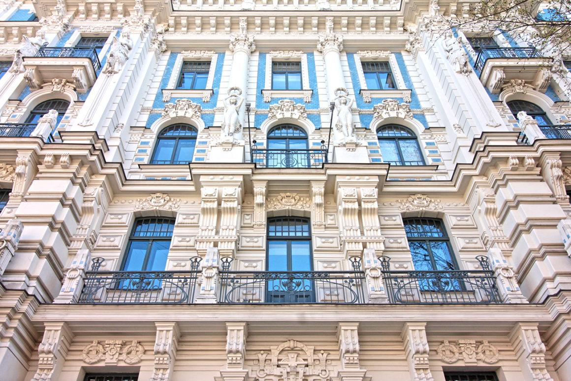 Art Nouveau architecture at Alberta Street in Riga