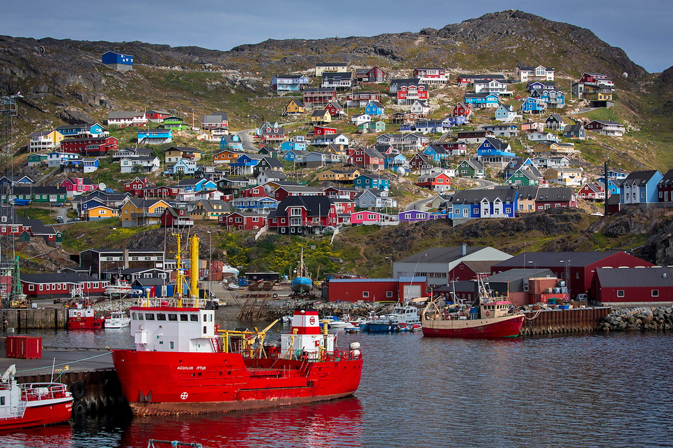 Qaqortoq, Greenland - most colourful towns and cities in Scandinavia
