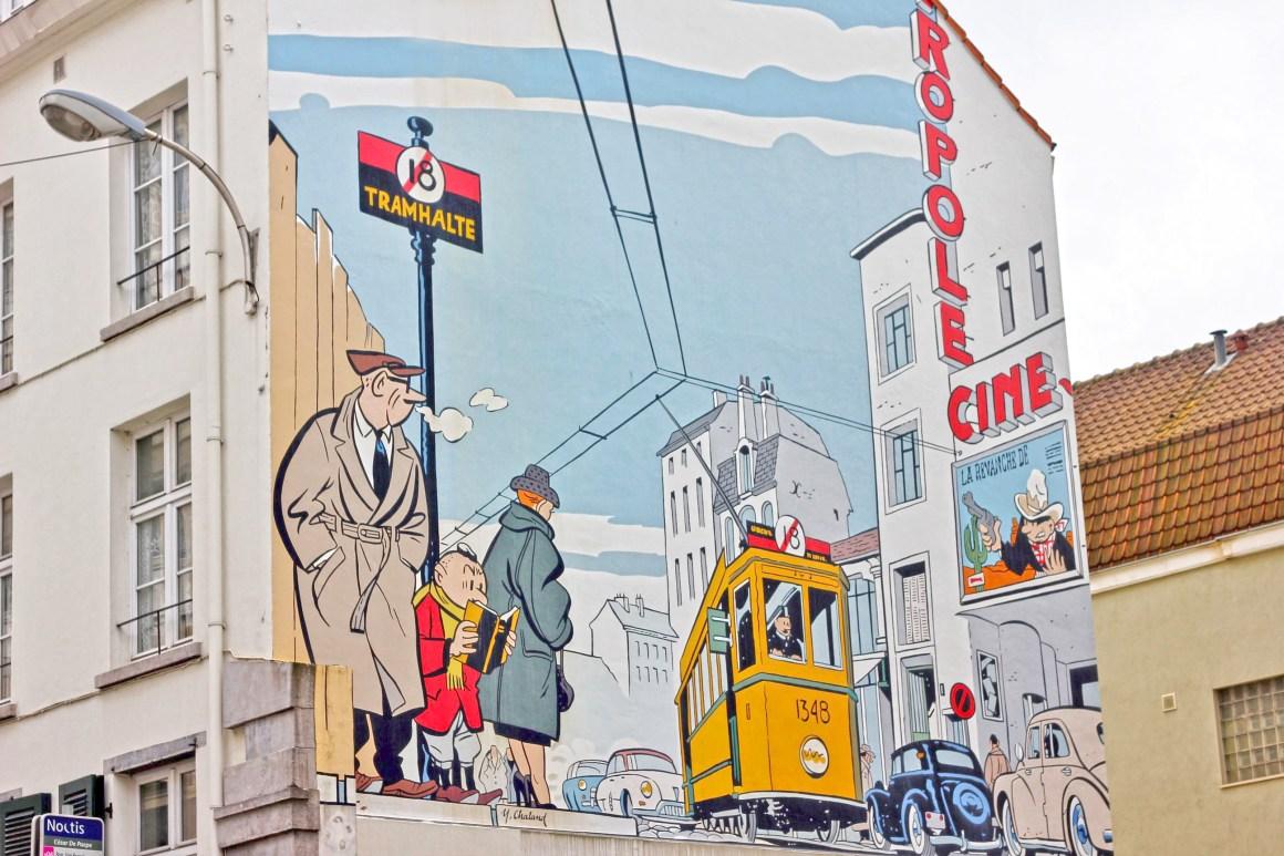 street art / comic book murals in Brussels