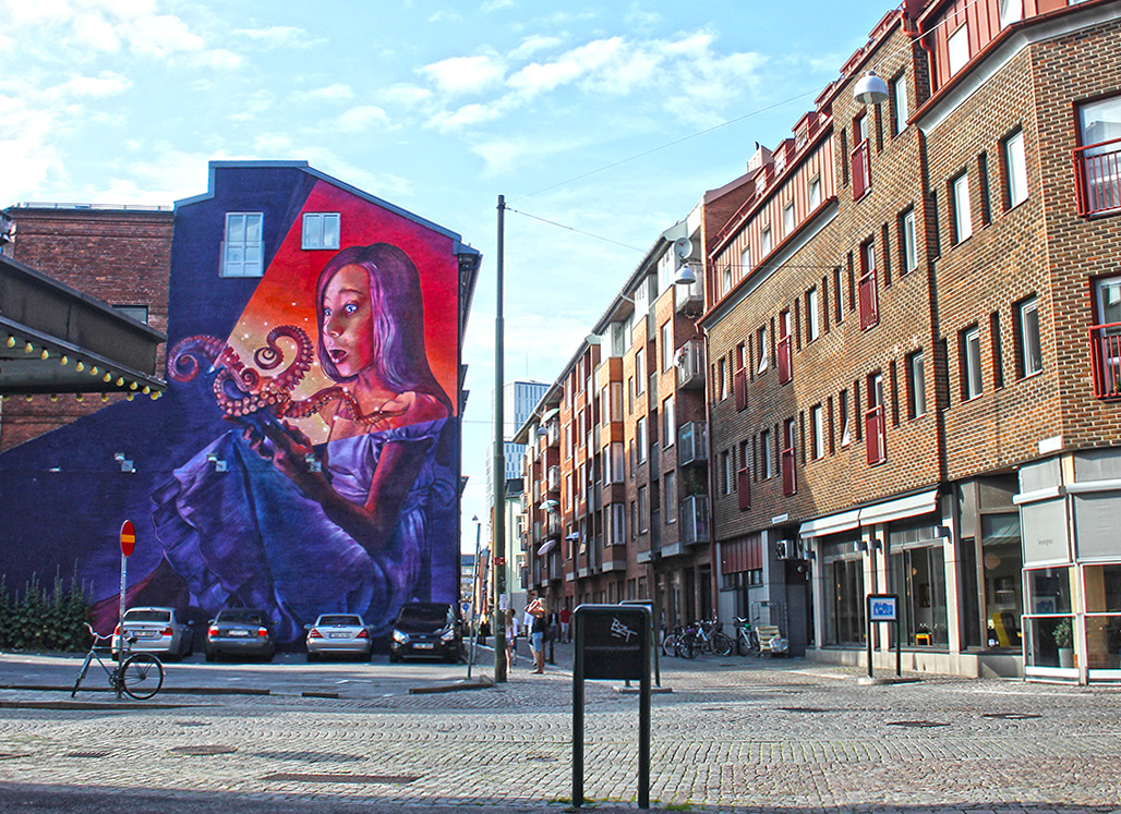 Mural by Natalia Rak - Street Art in Malmo